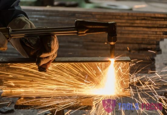 working with Oxy Acetylene Cutting Torch